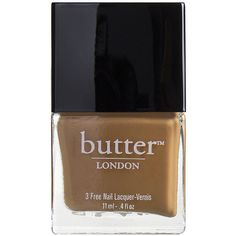 butter LONDON Nail Lacquer, Tea & Toast 0.4 oz (11 ml) ($15) ❤ liked on Polyvore featuring beauty products, nail care, nail polish, nails, fillers, beauty, makeup, butter london, butter london nail lacquer and butter london nail polish