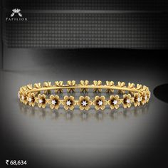 """""""Let's spread the message of peace and happiness with the color's of holi. Plain Gold Bangles, Gold Bangles Design, Gold Jewellery Design, Silver Bangles, Gold Jewelry, Diamond Jewelry, Diamond Necklace Set, Diamond Bracelets, Bracelet Or"""