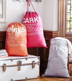 fun laundry bags from pbteen ... to help make doing laundry a bit more enjoyable