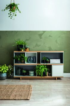 mieszkanie w stylu jungle Credenza, Bookcase, Shelves, Cabinet, Storage, Furniture, Design, Home Decor, Urban