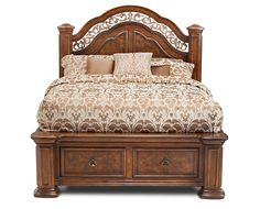 The Torreon Queen Storage Bed is a cultural take on classic tastes. Classic Bedroom Furniture, Bedroom Furniture Sets, Bed Furniture, Bedroom Sets, Furniture Plans, Bedding Sets, Furniture Design, Kitchen Furniture, Kids Bedroom