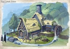 Dwarf Cottage, Kean Wai Yuen on ArtStation at http://www.artstation.com/artwork/dwarf-cottage