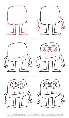 Tiere zeichnen: Schritt für Schritt Anleitungen für Tiere, Figuren, Essen.