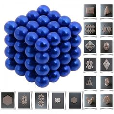 64pcs 5mm DIY Buckyballs Neocube Magic Beads Magnetic Toy Dark Blue.  Check this out at the Tmart link on MomTheShopper.