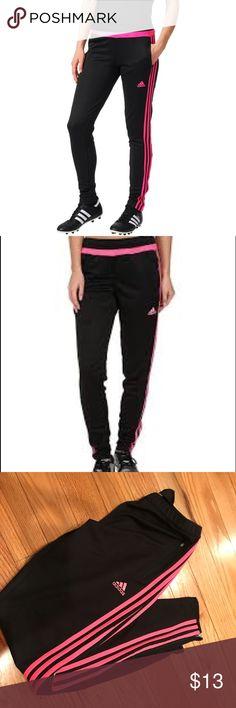 dimensioni piccole adidas zip alla gamba dei pantaloni di calcio 7 calcio pantaloni, adidas