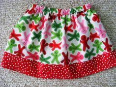 Gingerbread Men Skirt 12 mos 18mos 24 mos 2T 3T by wickedcutekidz, $15.00