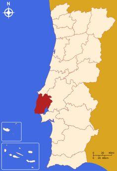 Localização do Distrito de Lisboa em Portugal