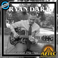 Gypsy Jazz Guitarist Ryan Dart will this week's Featured Artist performing a set before Open Mic this Thursday, August 17th beginning at 5pm! #sandiego #sandiegoconnection #sdlocals #sandiegolocals - posted by Aztec Open Mic https://www.instagram.com/aztecopenmic. See more San Diego Beer at http://sdconnection.com