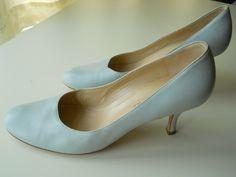 Vintage Bruno Magli Pale Blue Shoes - Size US 8.5. $40.00, via Etsy.