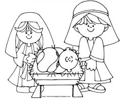baby jesus nativity picture coloring page - free & printable ... - Baby Jesus Coloring Pages Kids