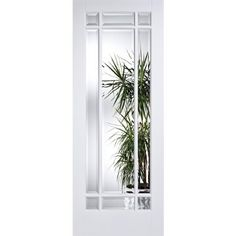 LPD Manhattan White Composite Glazed Internal Door – Next Day Delivery LPD Manhattan White Composite Glazed Internal Door from WorldStores: Everything For The Home White Interior Doors, White Doors, Primed Doors, Big Doors, External Doors, Kitchen Doors, Safety Glass, Beveled Glass, Candle Sconces