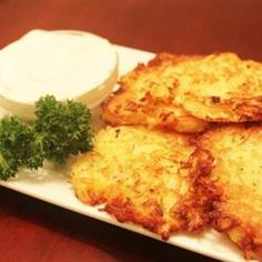 German Potato Pancakes - I saw these here and was hungry - so I made them.  YUM!!  This will replace trying to make hashbrowns in the morning!  Fast and delish.