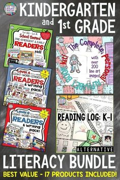 Ready to boost your Kindergarten or first grade literacy program? 15 beginning reader sets, a family-friendly alternative reading log and the best-selling Kindergarten Lesson Plans, Kindergarten Literacy, Reading Resources, Reading Lessons, Classroom Resources, Classroom Decor, Guided Reading, Reading Logs, Early Reading