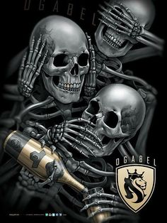 S Evil Skull Tattoo, Demon Tattoo, Skull Tattoo Design, Skull Tattoos, Body Art Tattoos, Tattoo Designs, Samurai Tattoo, Og Abel Art, Design Dragon