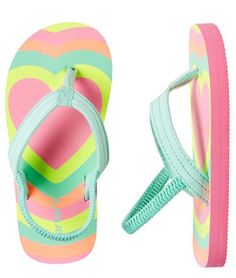 NEW Hanna Andersson 4 Youth Girl/'s Flip Flops Sandals Pink Watermelon Pineapple