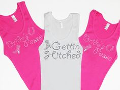 Western Bachelorette Party Rhinestone Tank Tops by ABridalShop, $18.99
