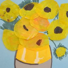 coffee filter sunflowers