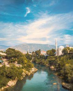 Mostar (Bosnia & Herzegovina) Mostar Bosnia, Bosnia And Herzegovina, Shots, River, Street, Outdoor, Instagram, Outdoors, Outdoor Living