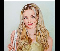 """Dove Cameron inspired by ""Glowing In The Dark"" ✨✨"" Tumblr Drawings, Bff Drawings, Realistic Drawings, Kawaii Drawings, Disney Drawings, Pencil Drawings, Dove Cameron, Liv Et Maddie, Kawaii Disney"