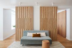 White Oak Kitchen, Amy, Shoji Screen, Light Hardwood Floors, Japanese Interior Design, Ikea Frames, Ikea Cabinets, Palette, Living Room Modern