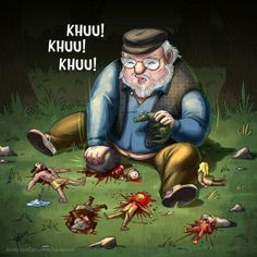 Matando cucarachas?