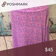 Maxi dress/skirt Small purple floral multi LuLaRoe Skirts Maxi