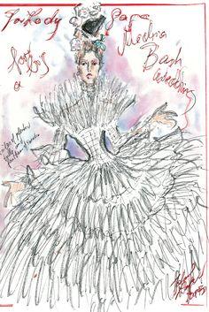 What Should Gaga Wear? | Karl Lagerfeld for Chanel Sketch