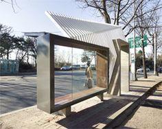 Sculptural bus shelters