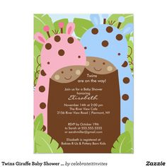 Stork boygirl twin bundle baby shower invitations twin baby stork boygirl twin bundle baby shower invitations twin baby shower pinterest boy girl twins shower invitations and twins filmwisefo Image collections