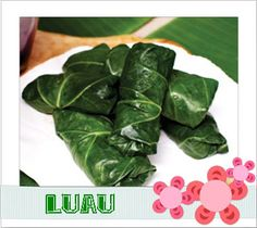 A true luau staple, lau lau rolls are traditionally made with pork and fish, rolled in taro or ti leaves, and steamed for hours before serving. This quick-and-easy version uses collard leaves to wrap up a sweet potato filling. Luau Appetizers, Vegan Appetizers, Appetizer Recipes, Vegetarian Times, Vegan Vegetarian, Vegetarian Recipes, Paleo Meals, Gf Recipes, Vegan Dinners
