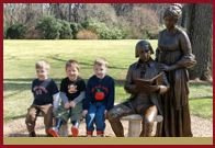 James Madison's Montpelier - Orange VA.  Lifesize statues of James and Dolly..a favorite photo spot.