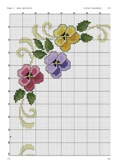 Myslíme si, že by sa vám mohli páčiť tieto piny - tonka. Embroidery On Clothes, Hand Embroidery Patterns, Ribbon Embroidery, Cross Stitch Embroidery, Embroidery Designs, Cross Stitch Borders, Cross Stitch Flowers, Cross Stitching, Cross Stitch Patterns