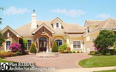 Luxurious French Country House Plan - 83387CL | European, Florida, French Country, Luxury, Photo Gallery, 1st Floor Master Suite, Bonus Room, CAD Available, Den-Office-Library-Study, In-Law Suite, MBR Sitting Area, Media-Game-Home Theater, PDF, Split Bedrooms | Architectural Designs