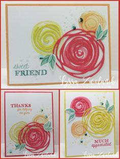 Swirly Bird stamp set and Swirly Scribbles Thinlits