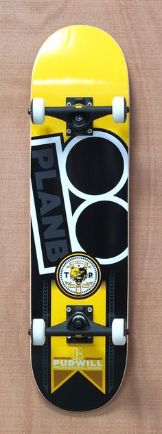 "Plan B Pudwill Contest 8.0"" Skateboard Complete $140.00"