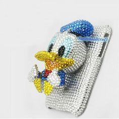 iPhone 5 case 3D Donald Duck bling Phone covers by Sandyhandcraft