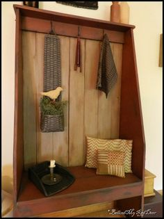 Country designs keep comfort and casual living in mind. Country charm with farmhouse decor and accents will add a cozy touch to your home. Primitive Homes, Primitive Antiques, Primitive Crafts, Country Primitive, Primitive Snowmen, Primitive Christmas, Christmas Christmas, Wood Crafts, Primitive Cabinets