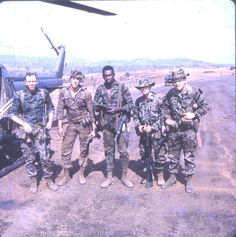 "Long Range Recon Patrol Vietnam | LRRP team, (Long Range Recon Patrol) at the ""Oasis"" firebase west of ..."