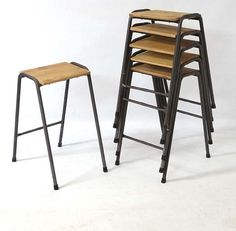 Mid C20th vintage stacking lab stools or school science stools  sc 1 st  Pinterest & kitchen renovation tour | Vintage school Stools and Kitchens islam-shia.org