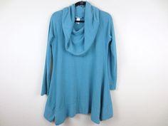 Soft Surroundings Women's Cowl Neck Tunic Top Lagenlook Soft Green Sz M #SoftSurroundings #Tunic
