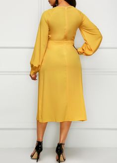 women dresses, tight dress ,casual dresses, women dress online store, Worldwide Delivery No Minimum Order! Yellow Long Sleeve Dress, Yellow Dress, Pretty Outfits, Pretty Dresses, Beautiful Dresses, Next Clothes, Clothes For Women, Women's Fashion Dresses, Dress Outfits
