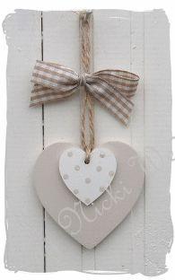Wooden heart decoration