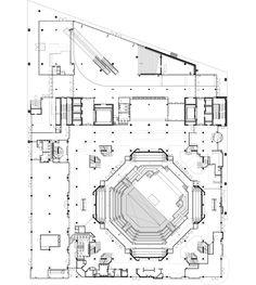 architectuurstudio HH arranges music venues for tivoli vredenburg Floor Plan Level 0