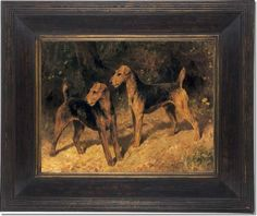 Arthur Wardle - Airedale Terriers - Champions Mistress And Master Royal.