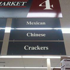 That's racist! Ha walmart has an isle like this too