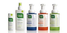 IDEO helped found the CleanWell brand of Ingenium products and created the identity and packaging.
