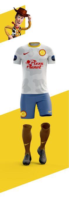 04064c4e8 Woody e Buzz Lightyer representando times? Um designer criou a Pixar  Football League para imaginar