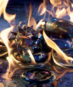 On Fire - Flames! Fall's finest accessories sizzle.