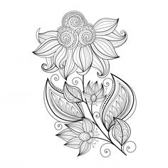Coloring isn't just for the kids–enjoy some stress relief of your own with these free advanced coloring flower pages! With twenty intricately