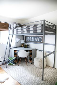 Bunk beds design and room ideas. Most amazing bunk beds for kids. Designing bunk beds that you might like. Boy Bedroom Design, Bed Design, Tiny Bedroom, Small Kids Room, Loft Bed, Loft Spaces, Bunk Beds For Boys Room, Bunk Bed Rooms, Boys Bedrooms